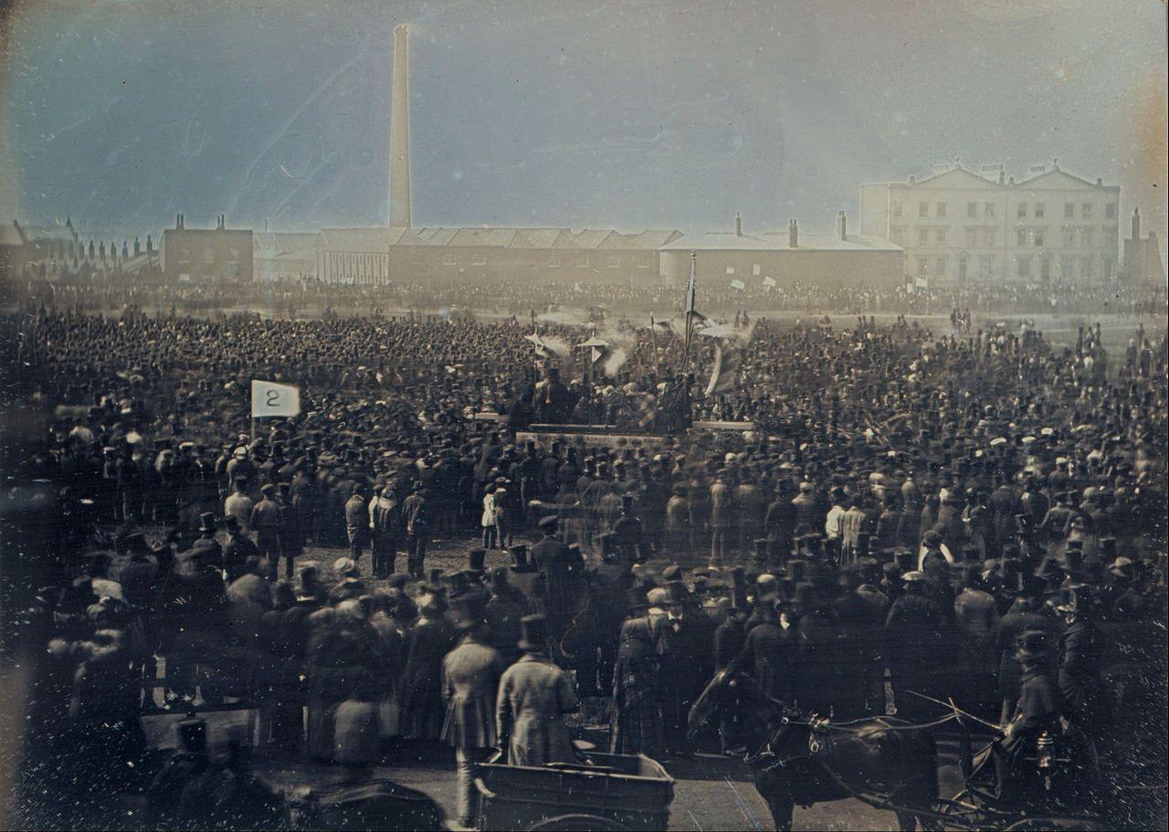 Great Chartist Meeting on Kennington Common, London in 1848