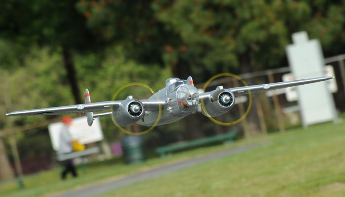 Airfield 1470mm 5 Channel B-25 Bomber Extreme Detail WarBird