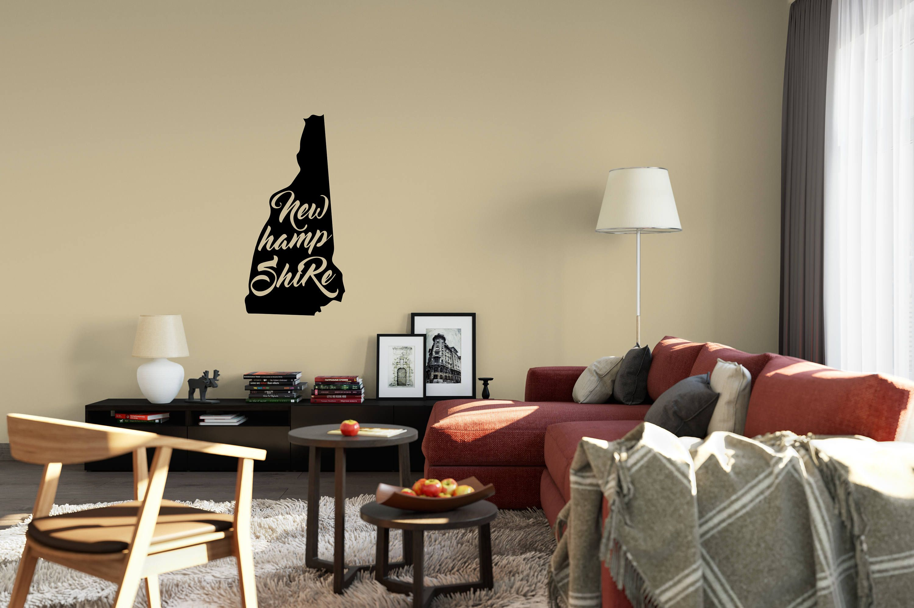 New Hampshire Wall Decal  Small & Large Removable Vinyl