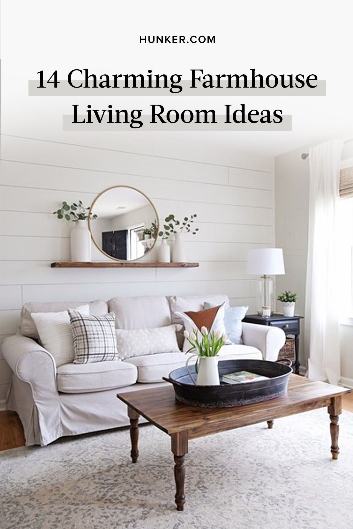 14 Farmhouse Living Room Ideas That Are Charming As All Get Out In 2020 Modern Rustic Living Room Farm House Living Room Simple Living Room