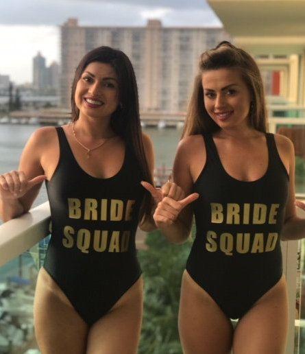 75943de012 Bride Squad One Piece Swimsuit-Bachelorette Bathing Suit-Bride Bathing Suit-Bride  Swim-Squad Swimsuit-Bachelorette Party Bathing Suits