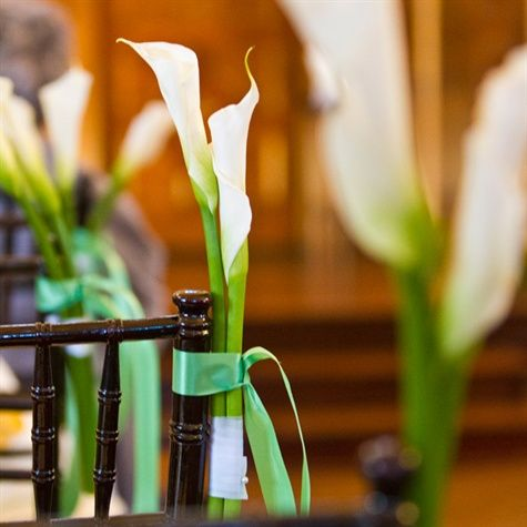 Calla Lily Tied To Ceremony Chairs Wedding Love Pinterest