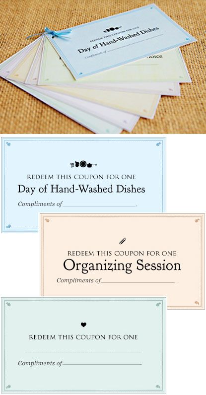 Chore Coupons - Free Jpeg Images to assemble your own.