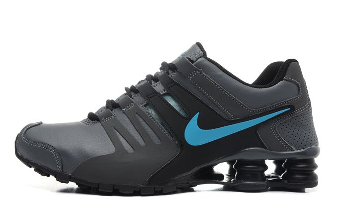 brand new 68d16 cdf15 New Cheap Nike Shox Current Men Gray Black Blue Shoes Outlet -www.cheapshoxshoessale.net