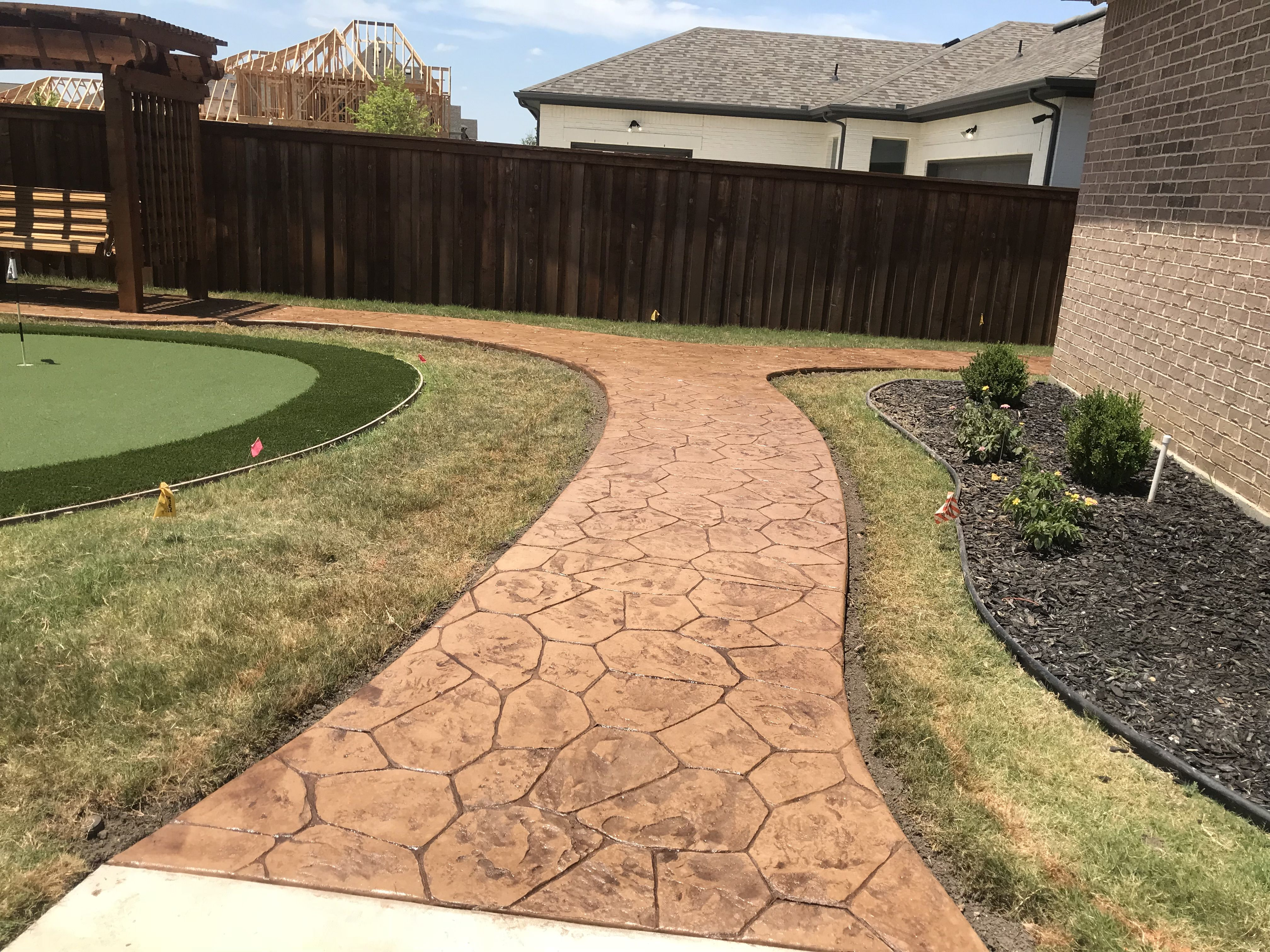 Here Is One More Picture Of The Stamped Concrete Groundscape