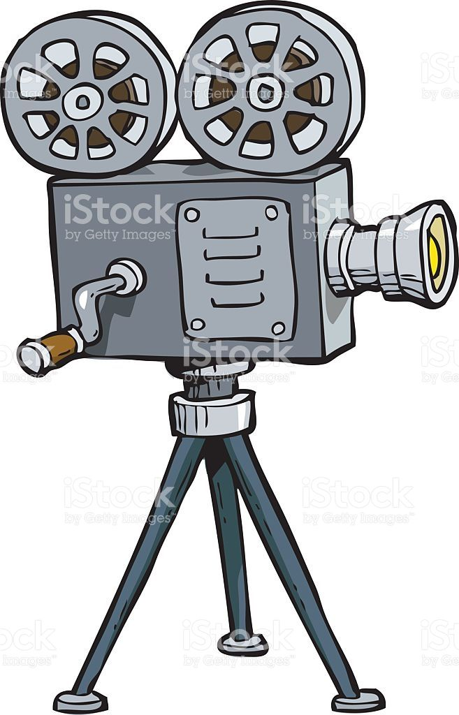 Cartoon Doodle Old Projector On A White Background Vector Illustration Camera Doodle Projector Doodle Art