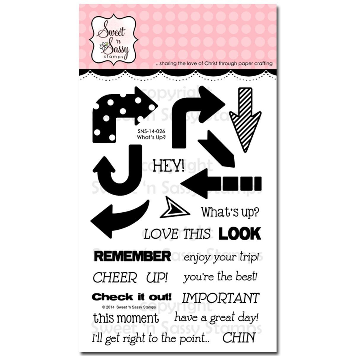 """Sweet 'n Sassy Clear Stamps 4""""x6"""" - What's Up"""