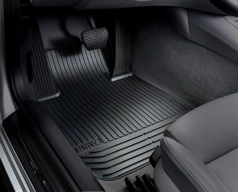 BMW OEM Black Rubber Floor Mats E46 3 Series Sedan Wagon WITH