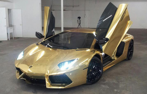 World S Most Expensive Car Gold Lamborghini Aventador Expensive