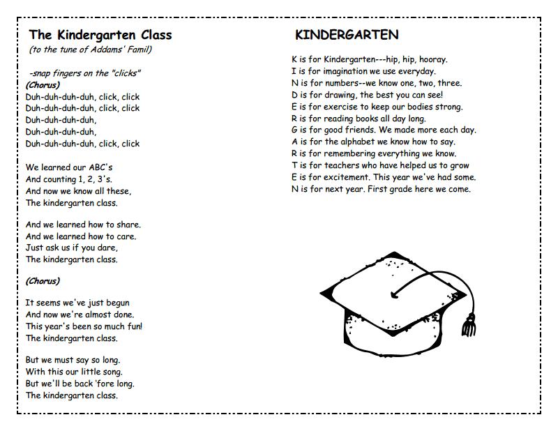 Kindergarten Graduation pdf   Graduation art/poem   Kindergarten
