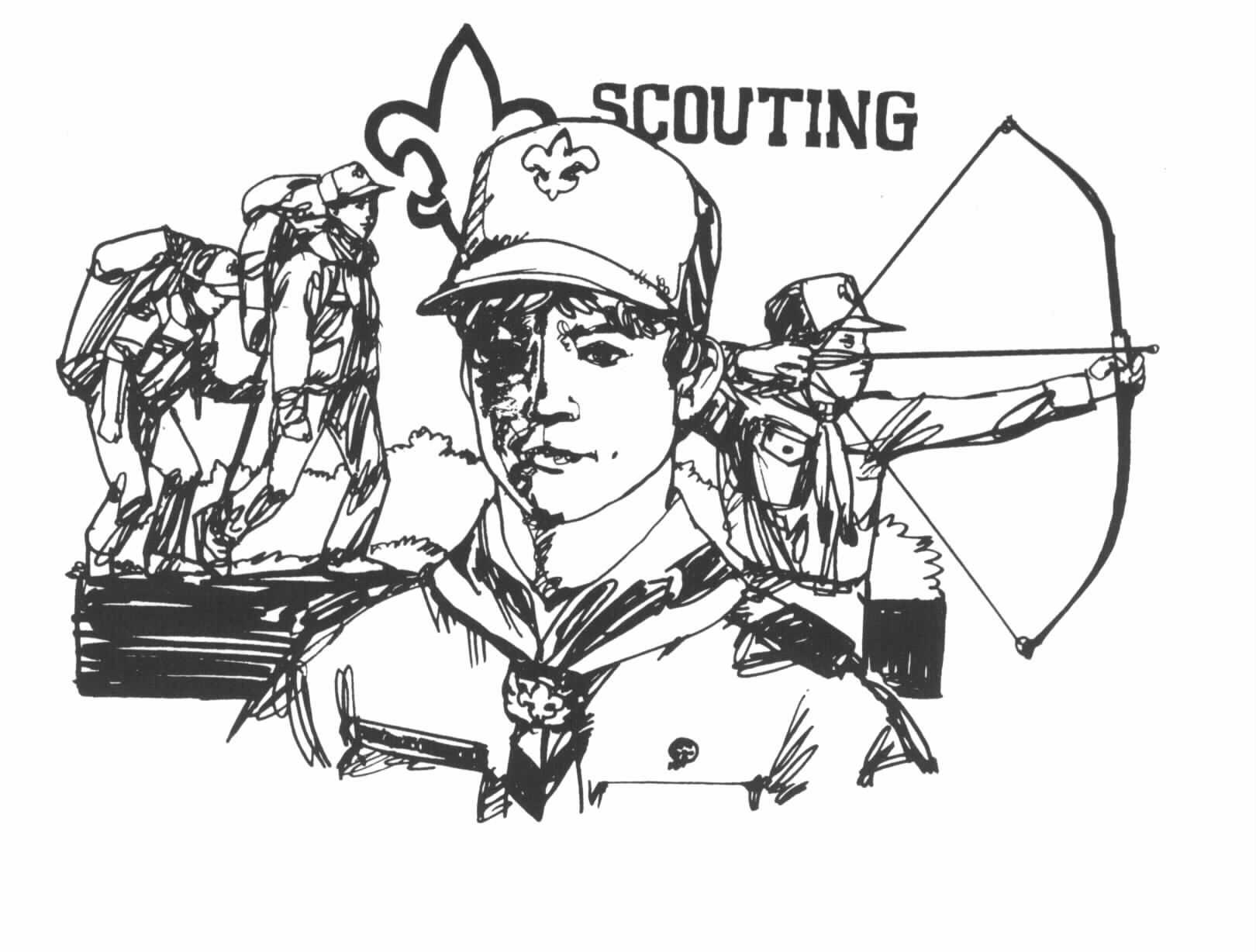 lots of scouting clip art [ 1620 x 1228 Pixel ]
