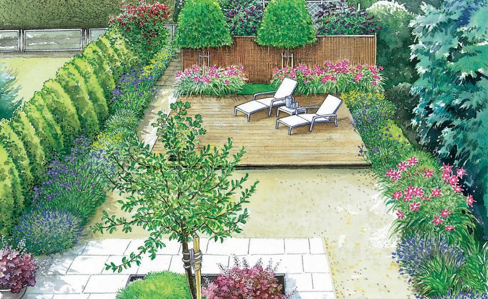 gestaltungsideen f r einen kleinen reihenhausgarten garten pinterest pflegeleichter garten. Black Bedroom Furniture Sets. Home Design Ideas