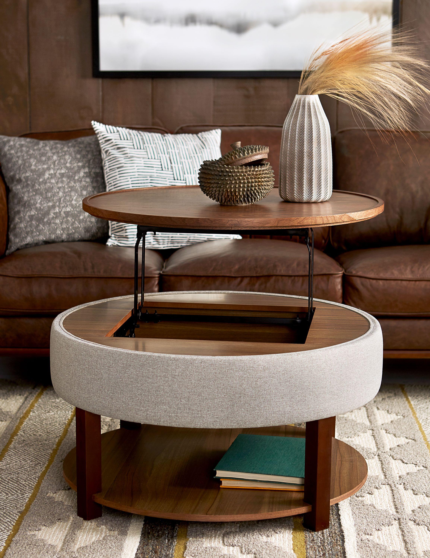 Walnut Wood Veneer Lift Top Coffee Table With Storage 84cm 33 Structube Damian Coffee Table Coffee Table With Storage Oak Coffee Table [ jpg ]