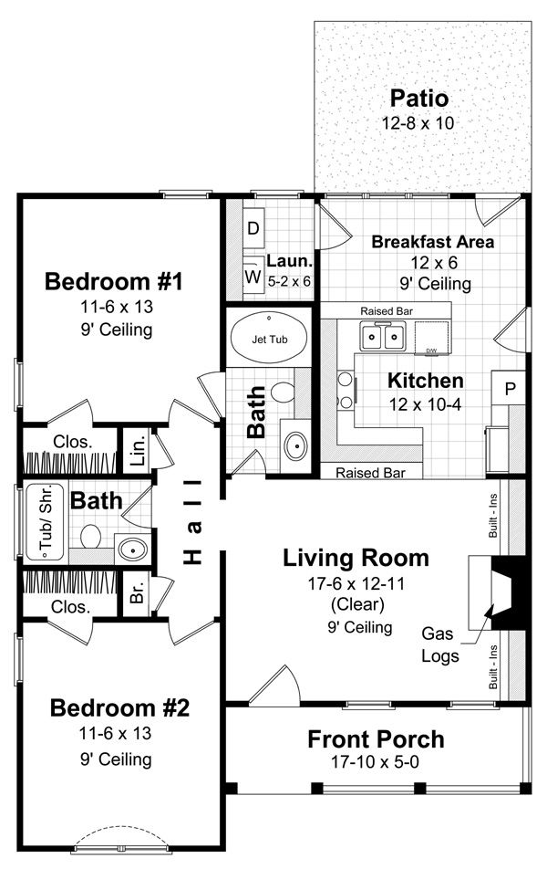 New House Plan HDC 1000 1 Is An Easy To Build Affordable 2 Bed Bath Home Design