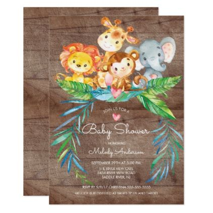 Safari jungle animals baby shower invitation shower invitations safari jungle animals baby shower invitation shower invitations babies and babyshower filmwisefo
