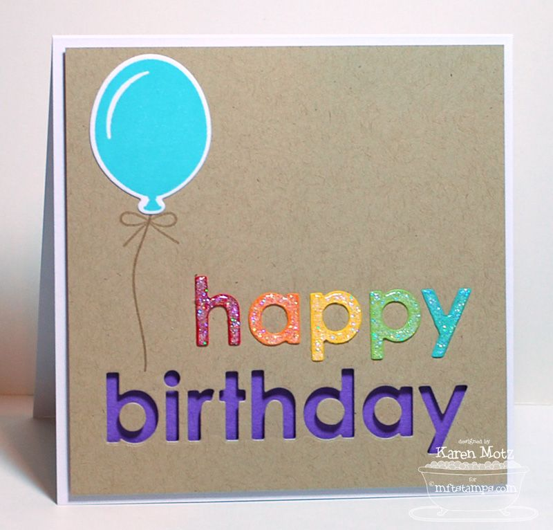 Party Balloons Birthday Greetings Jumbo Mod Borders Happy Birthday Die Namics Party Balloons Die Inspirational Cards Card Making Birthday Cards For Friends
