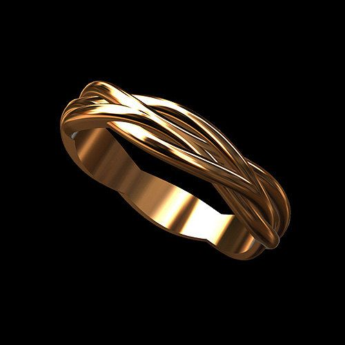 Solid 14k Pink Rose Gold Twisted Infinity Wedding Band Ring Rose Gold Mens Ring Rings Mens Wedding Bands Rings For Men
