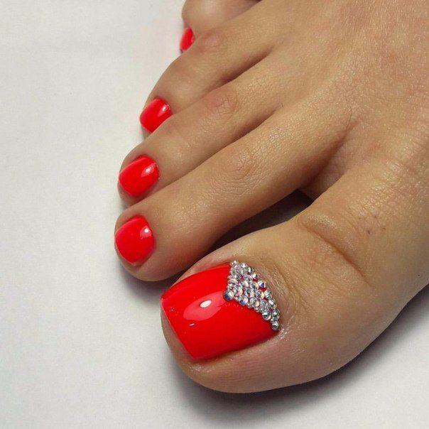 Pin By Nails Pantera Negra On Linda In 2020 Red Toenails Summer Toe Nails Pedicure Designs Toenails