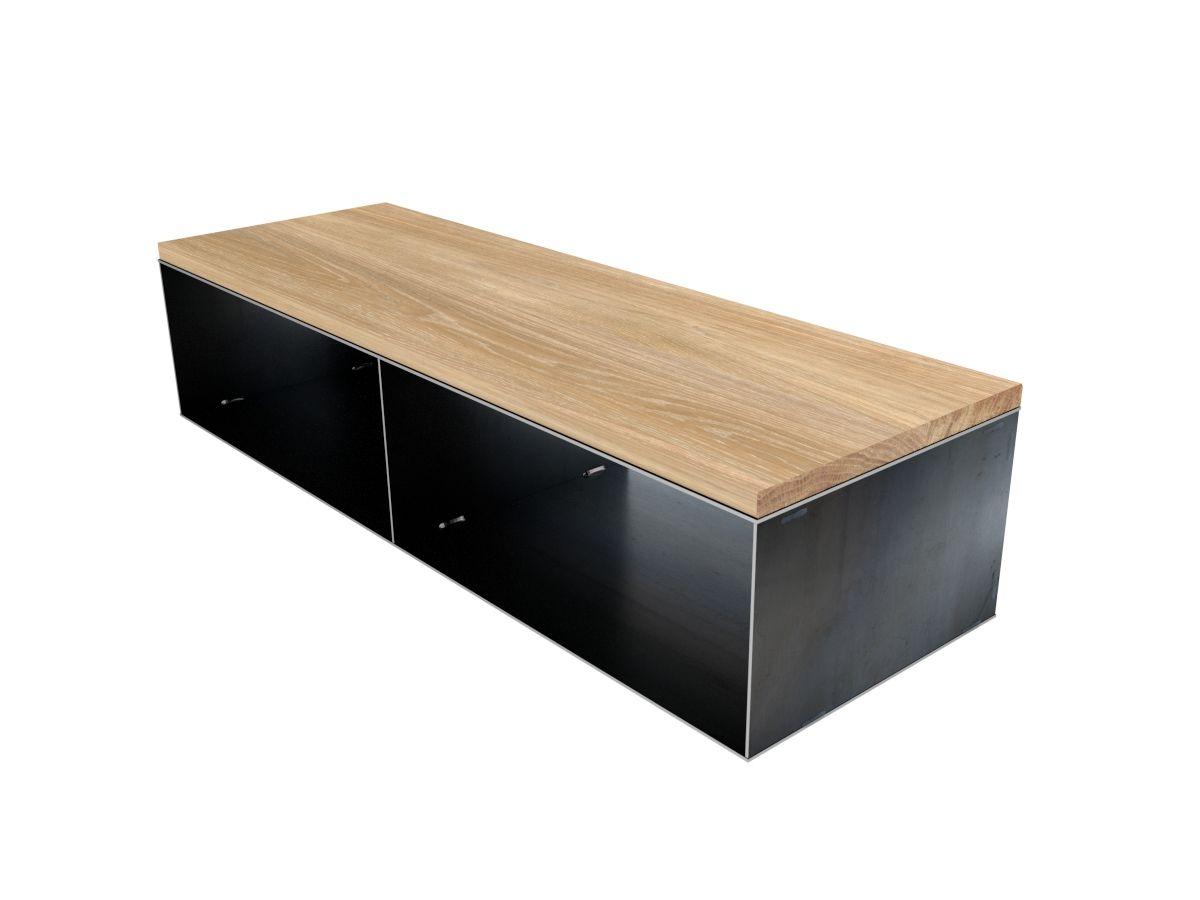 kleines kaminholzregal design stahlmöbel lowvboard, kleines, Wohnzimmer dekoo