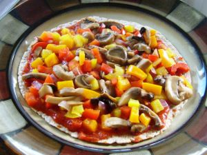 clean eating Tortilla Pizza recipe! So good :)