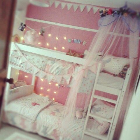 Pretty Bunkbeds Ideas For Girls Sisters Bedroom Shared Girls