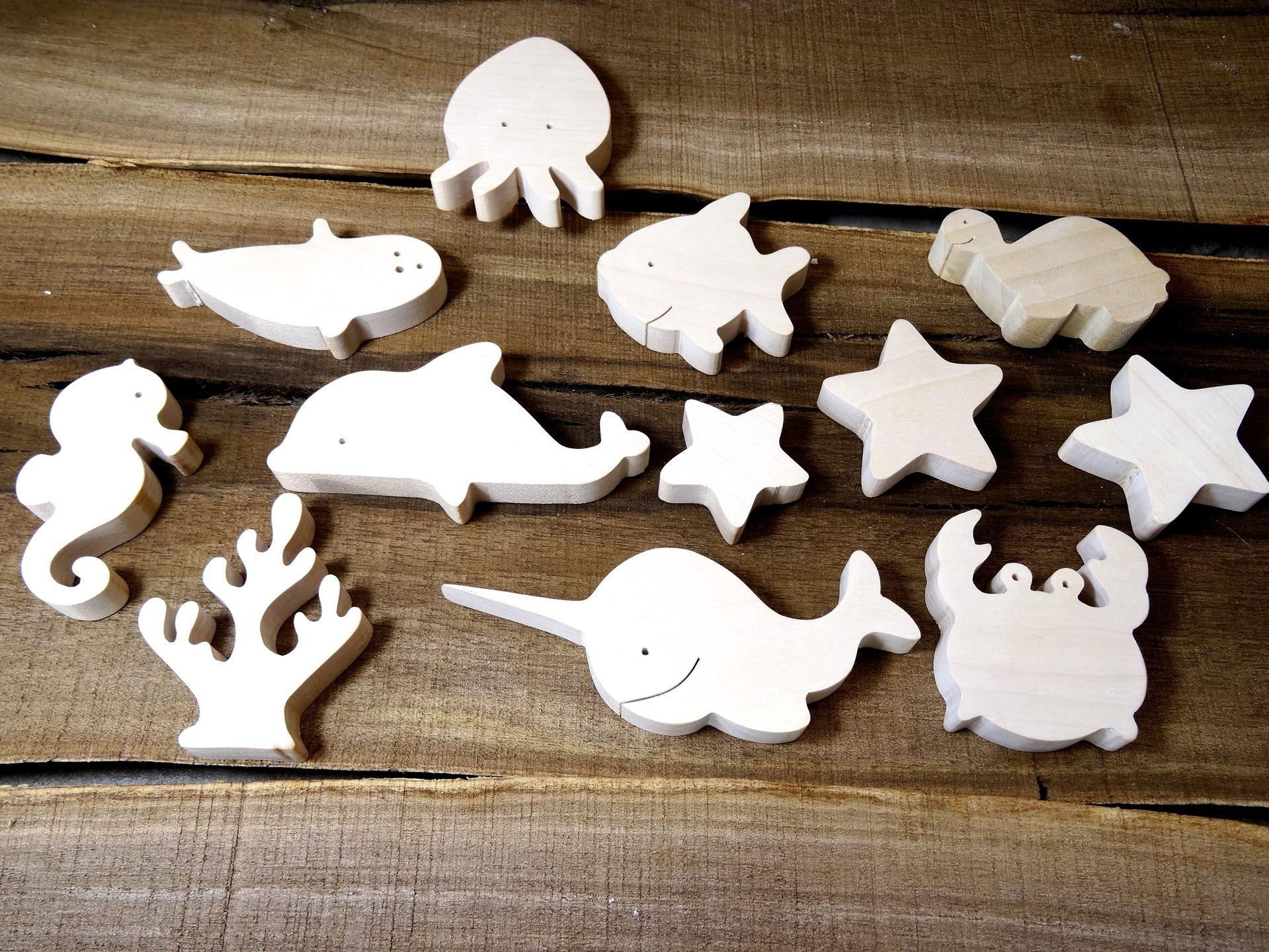 jouet en bois animaux marins jouet cologique pour b b. Black Bedroom Furniture Sets. Home Design Ideas