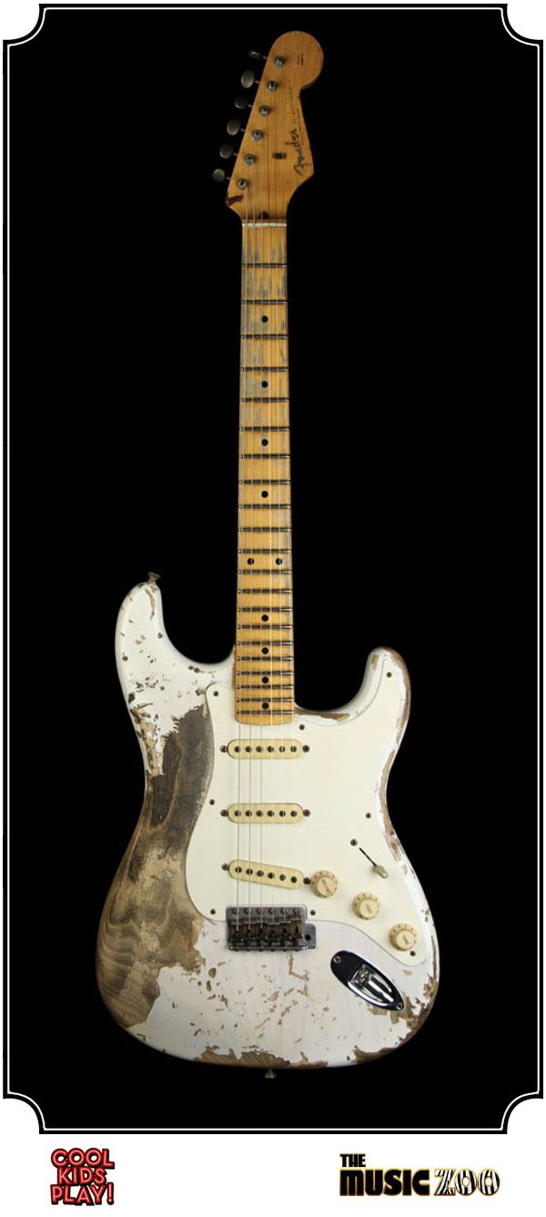 Fender Ultimate Relic : 57 Stratocaster Masterbuilt by Jason Smith for The Music Zoo. Relic'd White Blonde