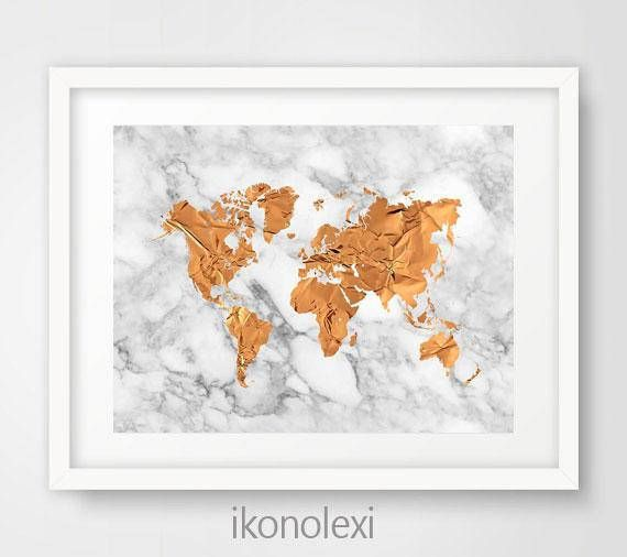 Copper world map art print gold world map map world copper copper world map art print gold world map map world copper download gumiabroncs Image collections