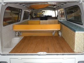 Burlap Vw Bus Interior