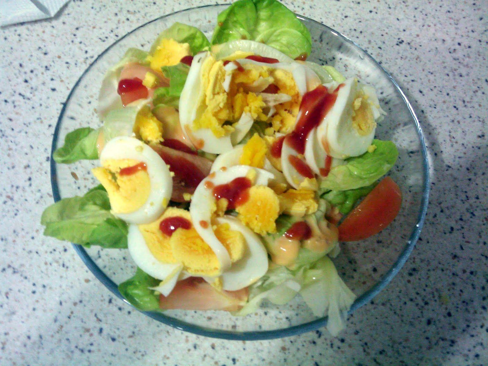 Ordinary Me Salad Telur Dan Kentang Wedges Kentang Telur
