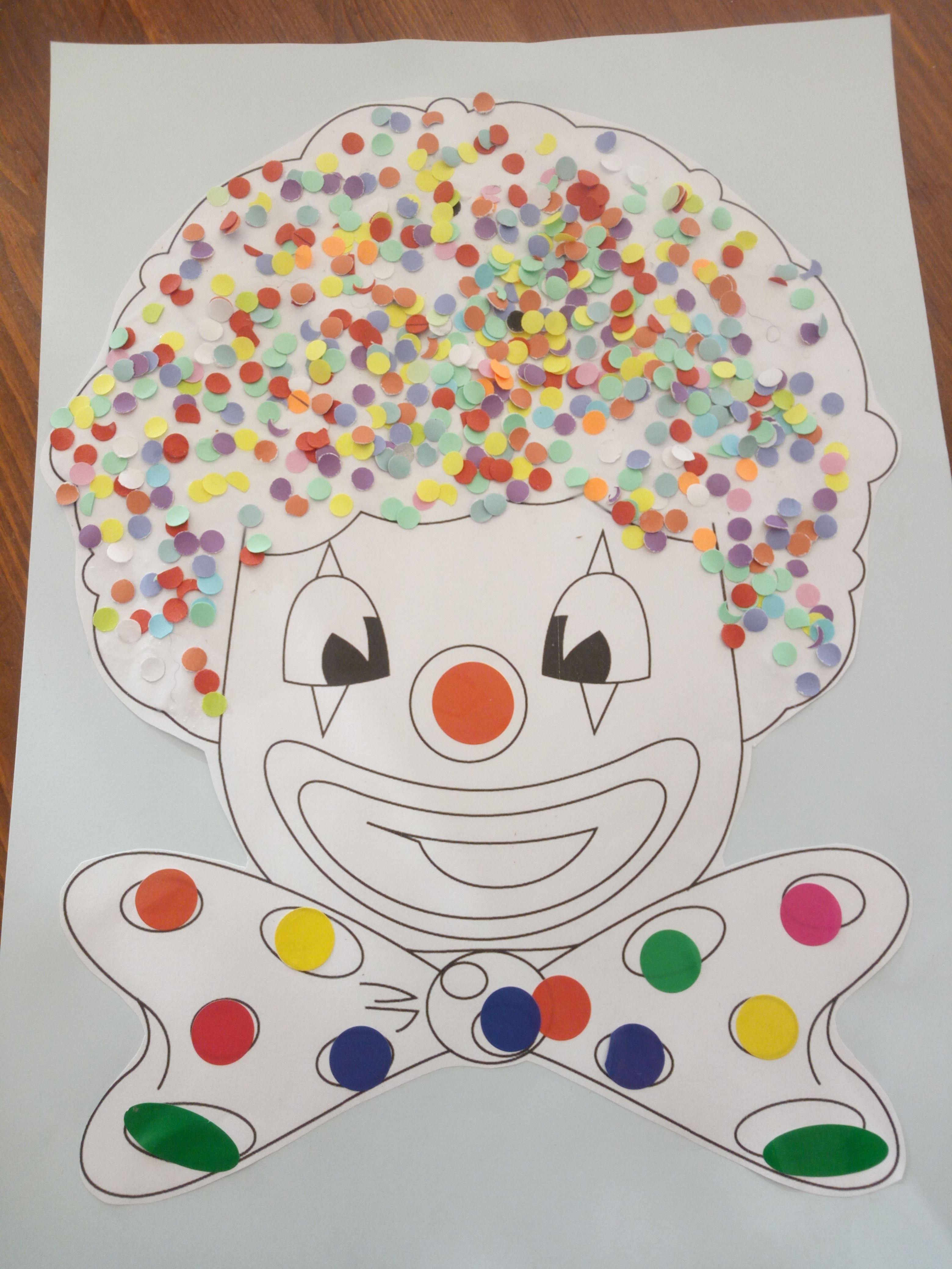 clown en confettis activit enfants pinterest. Black Bedroom Furniture Sets. Home Design Ideas