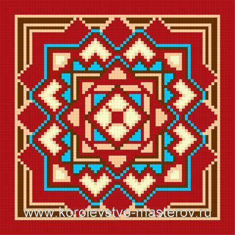 Схема вышивке подушки