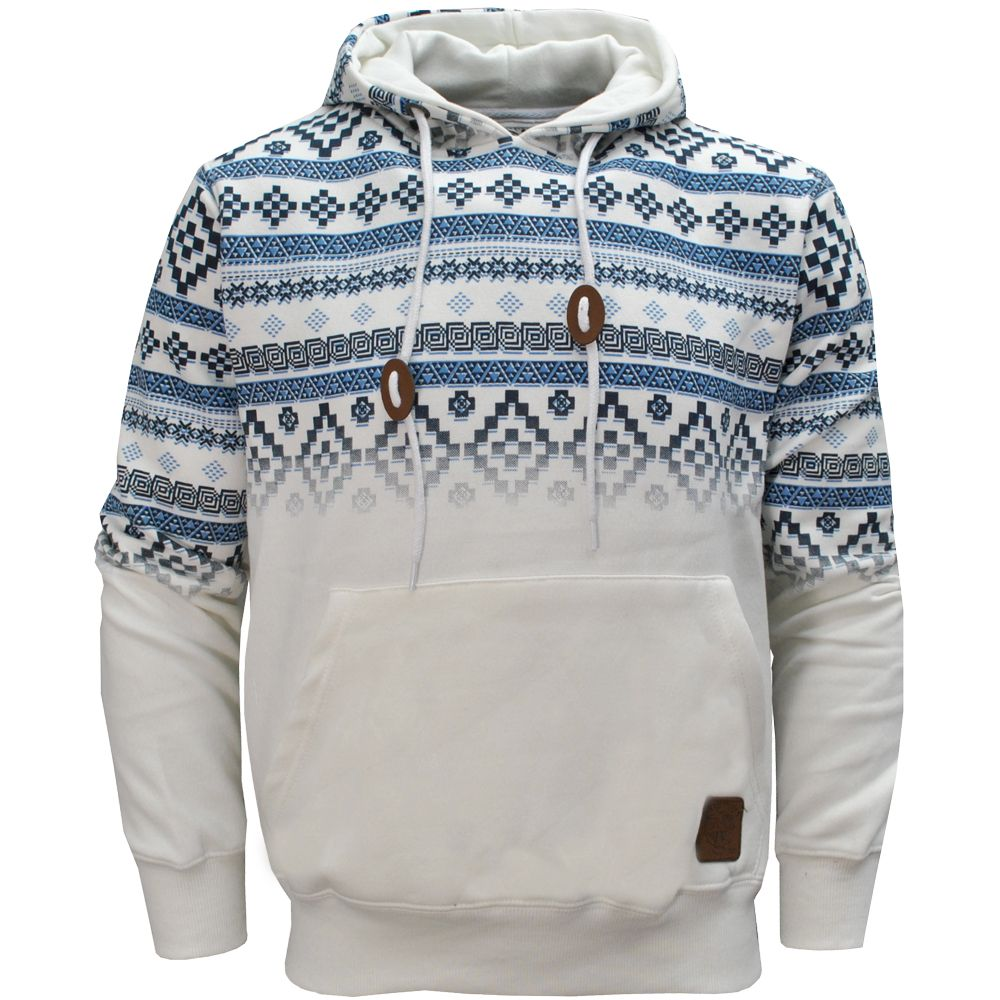 Details about Tokyo Tigers Horten Aztec Print Pullover Hoodie ...
