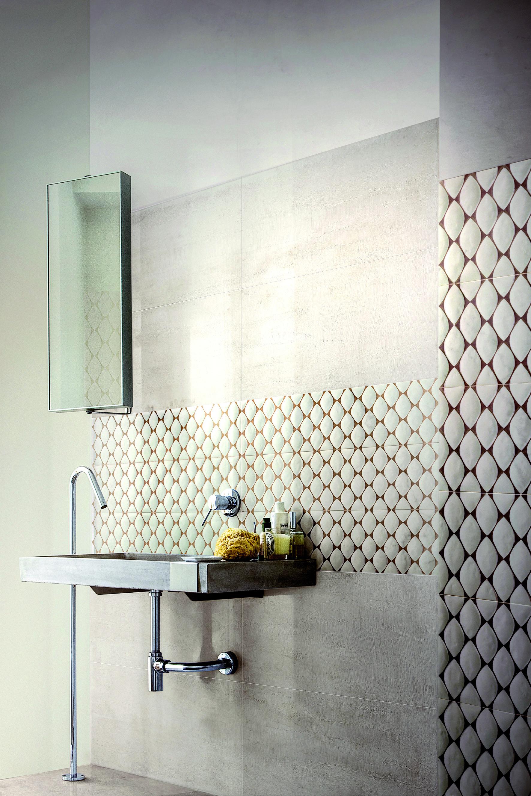 Badezimmer Fliesen Modern Muster Mosaik Beton Ceramic Stein In