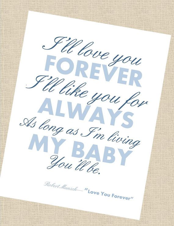 I Love You Forever Book Quote