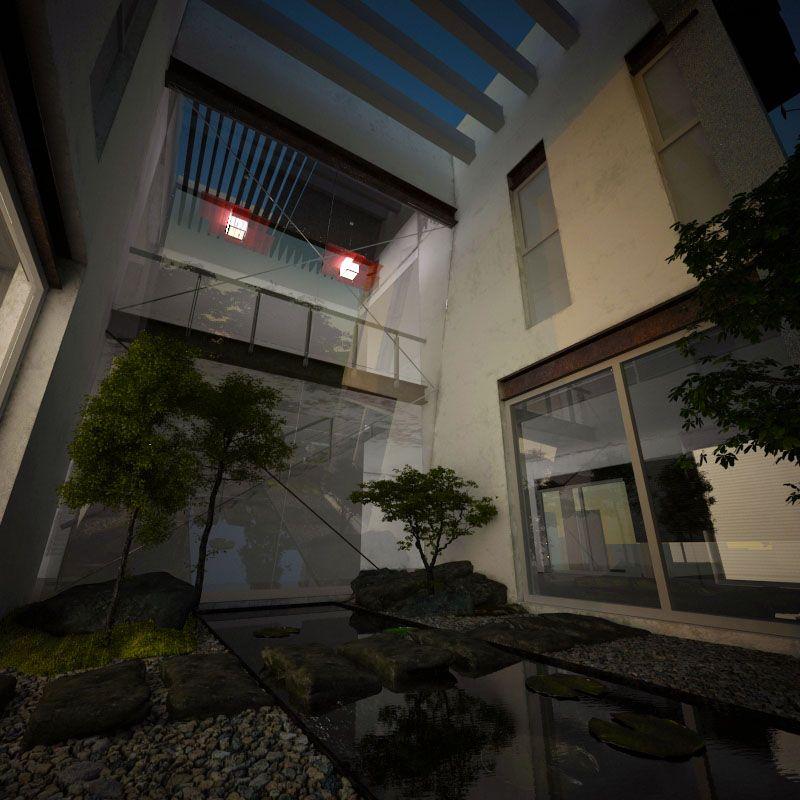 Un espacio a doble altura que resguarda el dise o del for Diseno jardin interior