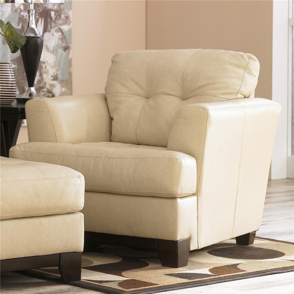 Martin Oyster Leather Chair By Ashley Millennium Becker Furniture World Upholstered Twin