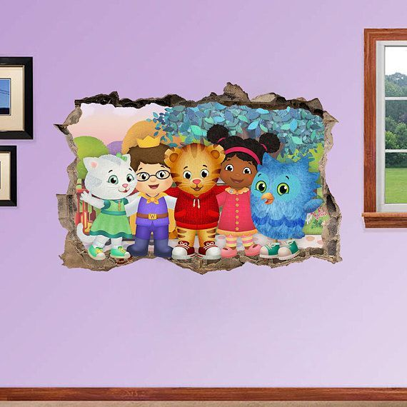 Best Daniel Tiger S Neighborhood 3D Wall Sticker Smashed 400 x 300