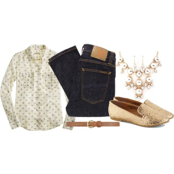 """""""Gold Baubles and Dots"""" by mrsrutledge1810 on Polyvore"""