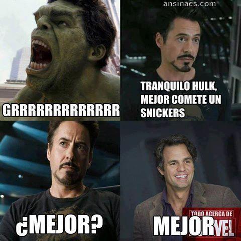 Tranquilo Hulk Mejor Comete Un Snickers Funny Stuff