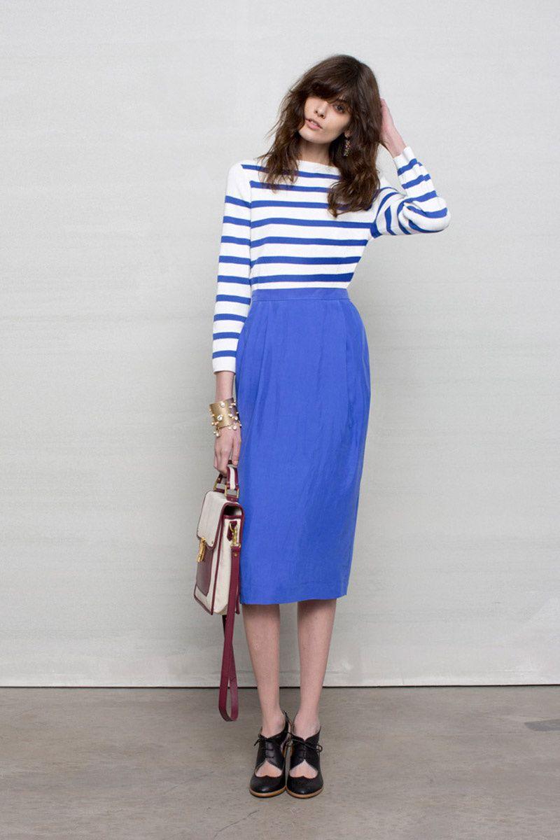 Shopping Dress for less faldas lápiz  Lookbook de Asos con camiseta navy  3c81f29aabd8