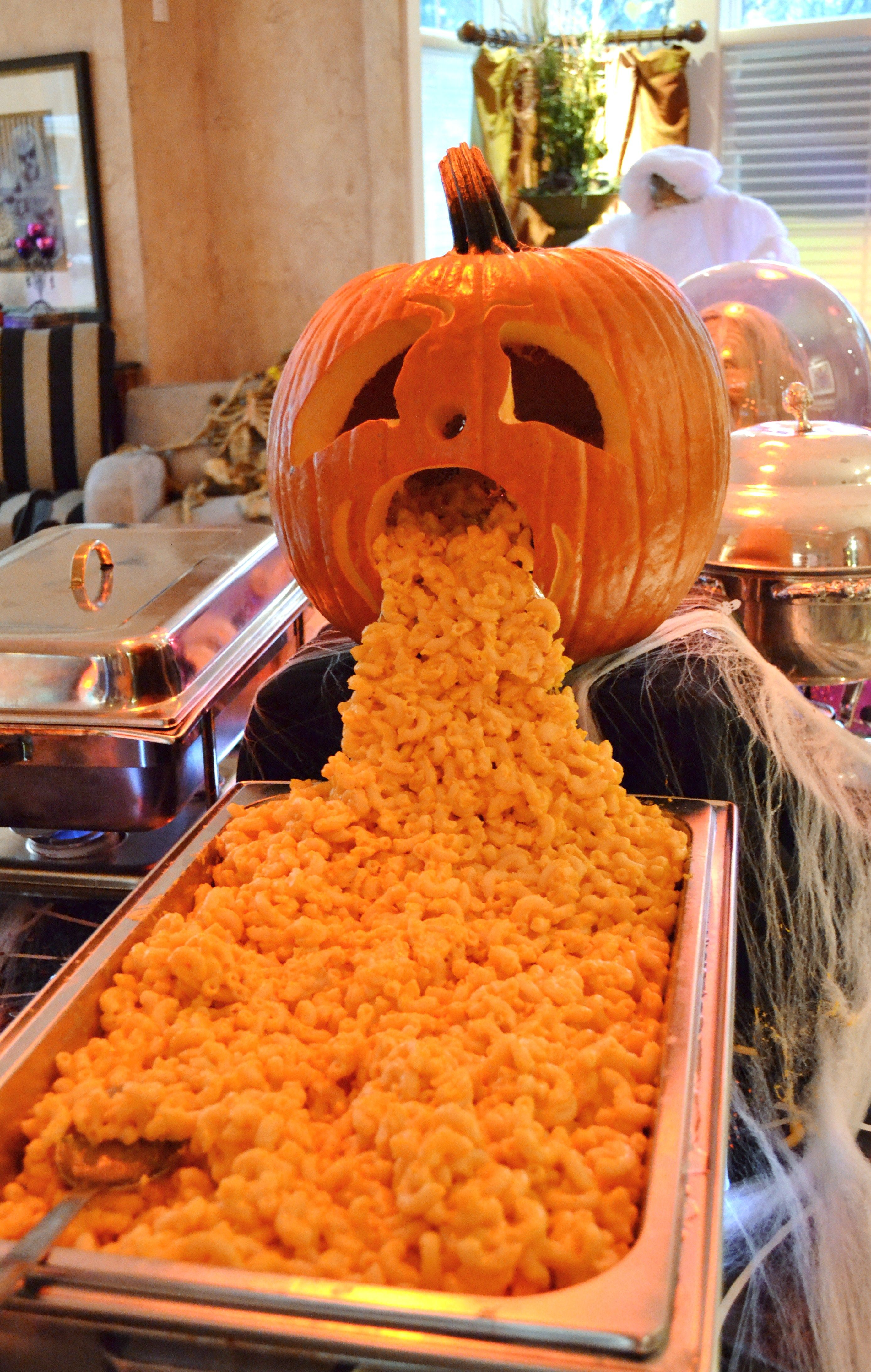 This Jack O Lantern Has Had Enough Mac And Cheese