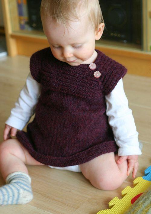Little Sister\'s Dress free knitting pattern …   Pinteres…