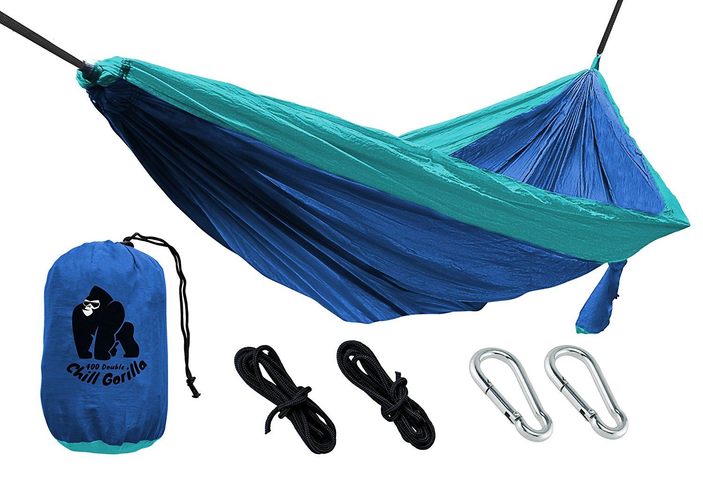 amazon    chill gorilla portable 2 person parachute camping hammock blue and light blue amazon    chill gorilla portable 2 person parachute camping      rh   pinterest