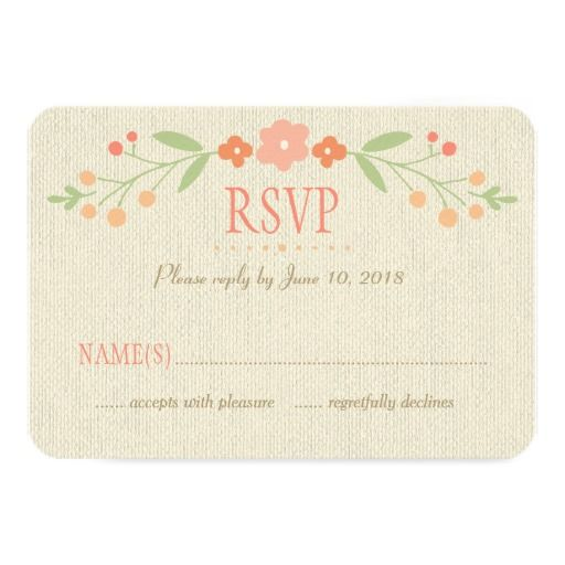 Wedding Response Card | Country Florals Pink Announcements