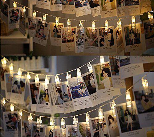 Neretva 20 LEDs Photo Clips String Lights Christmas Lights Starry ...