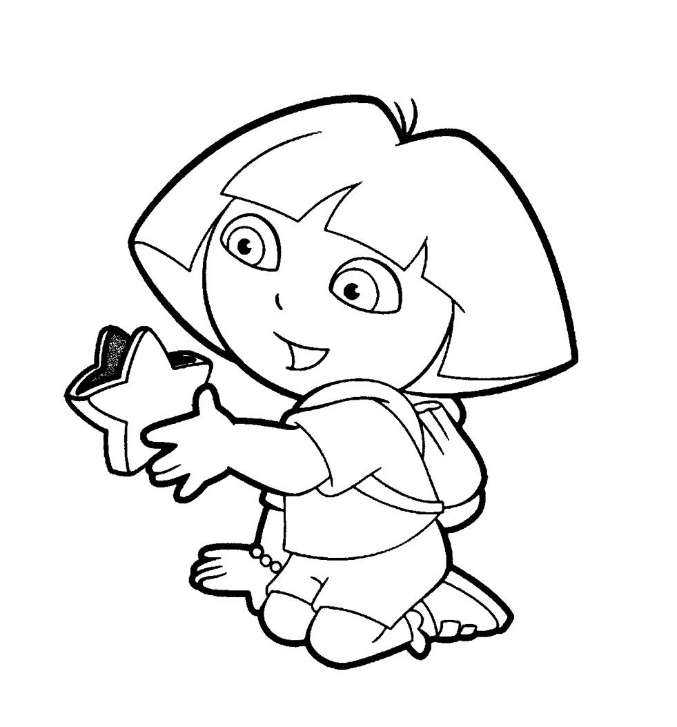 Dora Colouring Pictures 2 Coloring Pages To Print Pertaining To Inside Printable Colo Coloring Pictures For Kids Cartoon Coloring Pages Minion Coloring Pages