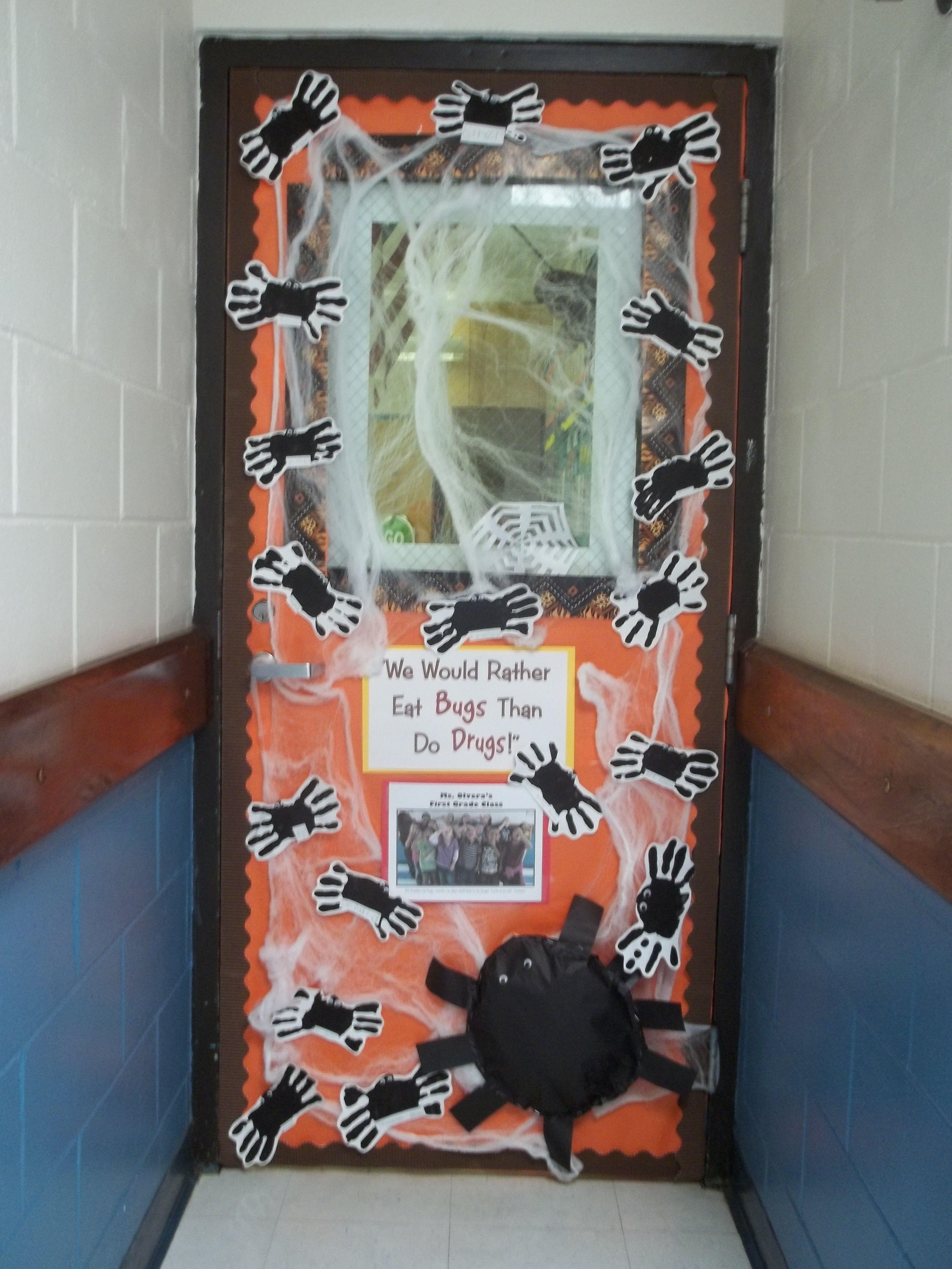 Halloween dorm door decorations - Classroom Door