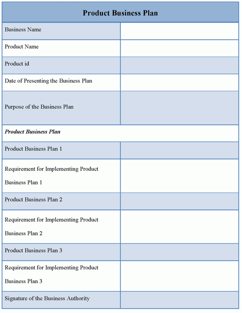 Business Plan Template  Download Editable Product Business Plan