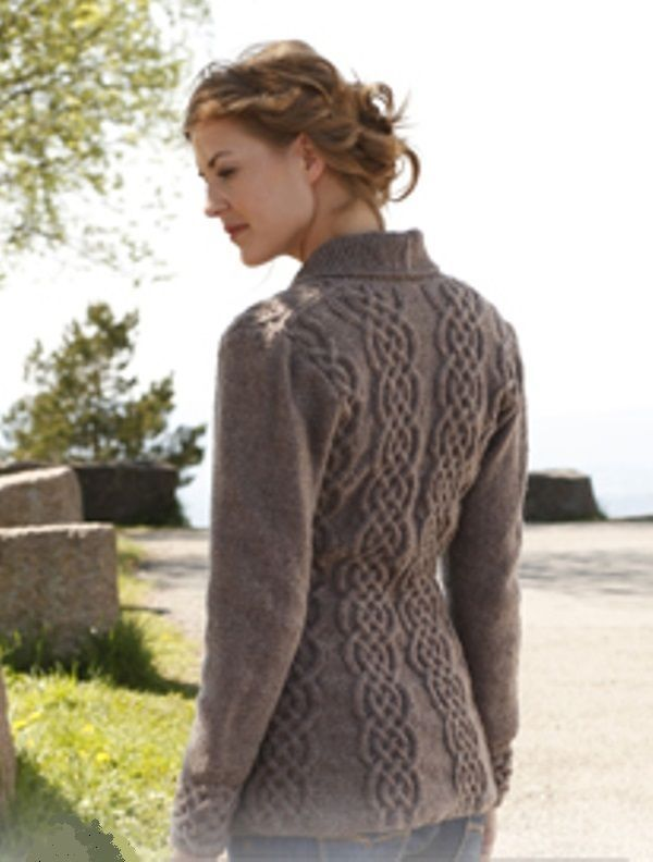 1071BA LADIES CELTIC CABLE DK CARDIGAN / JACKET KNITTING